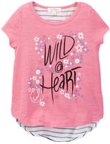 Jessica Simpson Slub Short Sleeve Knit Top (Little Girls)