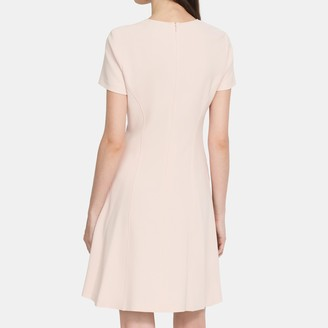 Theory Modern Seamed Shift Dress in Crepe
