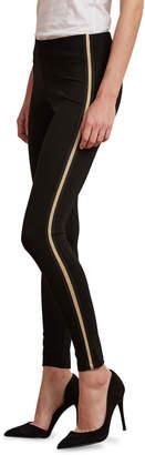 Velvet Raquel Metallic Tuxedo Stripe Leggings