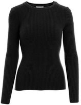 Minnie Rose Long Sleeve Ribbed Crew