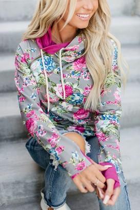 Ampersand Avenue DoubleHood Sweatshirt - Floral Frenzy