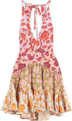 Zimmermann The Lovestruck Printed Linen Mini-dress