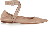 Valentino Love Latch point-toe leather ballet flats