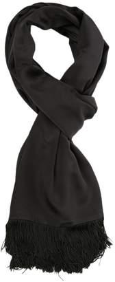 Vintage (Unsigned) Vintage (unsigned) Black Silk Scarves