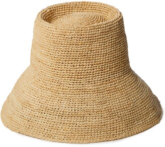 Janessa Leone Felix Raffia Bucket Hat