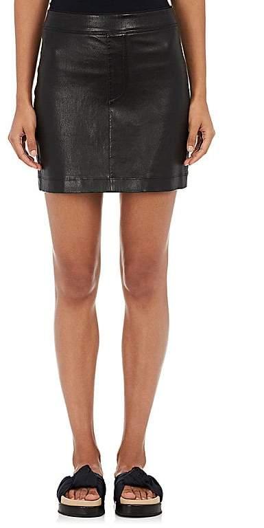 Helmut Lang Women's Grained Leather Miniskirt