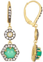 Freida Rothman 14K Gold Plated Sterling Silver Metropolitan Semi-Precious Stone Drop Earrings