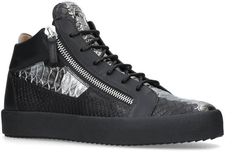 Giuseppe Zanotti Metallic Mid-Top Sneakers