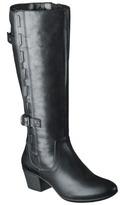 Merona Women's Janie Genuine Leather Tall Boot - Black