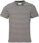 Farah Mens Ally Stripe T-Shirt True Navy