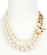 Anne Klein Pearl Blossom Statement Necklace