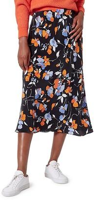 Brystal Floral Silk Slip Skirt