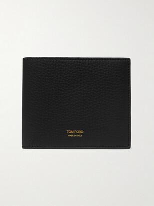 Tom Ford Full-Grain Leather Billfold Wallet - Men - Black