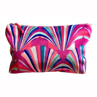 Chloe Croft London Limited Luxury Velvet Fuschia Cosmetic Bag