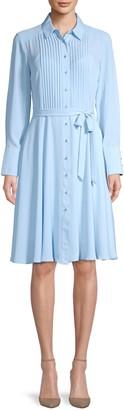 Nanette Nanette Lepore Pintuck Long-Sleeve Shirtdress