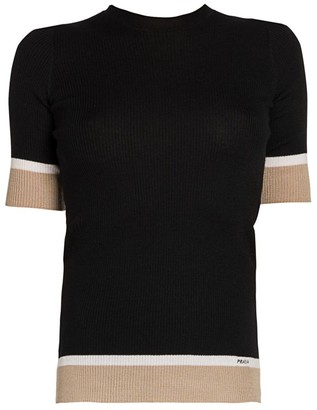 Prada Lana Short Sleeve Sweater
