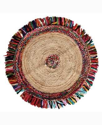 """Home Weavers Stormy Jute Braid Round Shape 36"""" x 36"""" Accent Rug Bedding"""