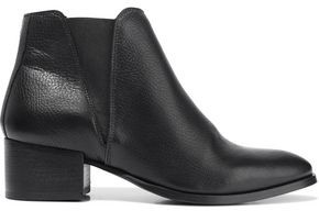 Iris & Ink Savea Textured-leather Ankle Boots