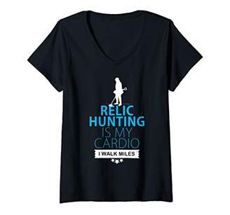 Womens Relic hunting is my cardio V-Neck T-Shirt