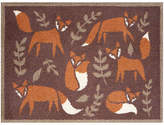 Turtle Mat Folky Foxes Doormat Rug, Brown