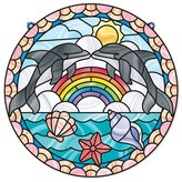 Melissa & Doug Toddler 'Stained Glass Made Easy - Dolphins' Peel & Press Sticker Kit