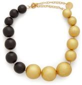 Vanda Jacintho - Wooden-bead Choker - Womens - Black Gold