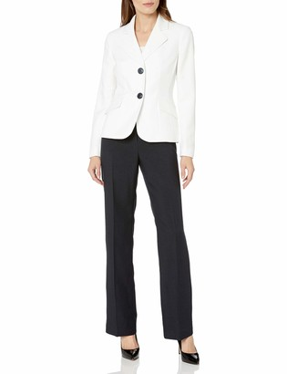 Le Suit LeSuit Women's Glazed Melange 2 Button Pant Suit