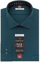 Van Heusen Men's Flex Collar Regular Fit Solid Spread Collar Dress Shirt