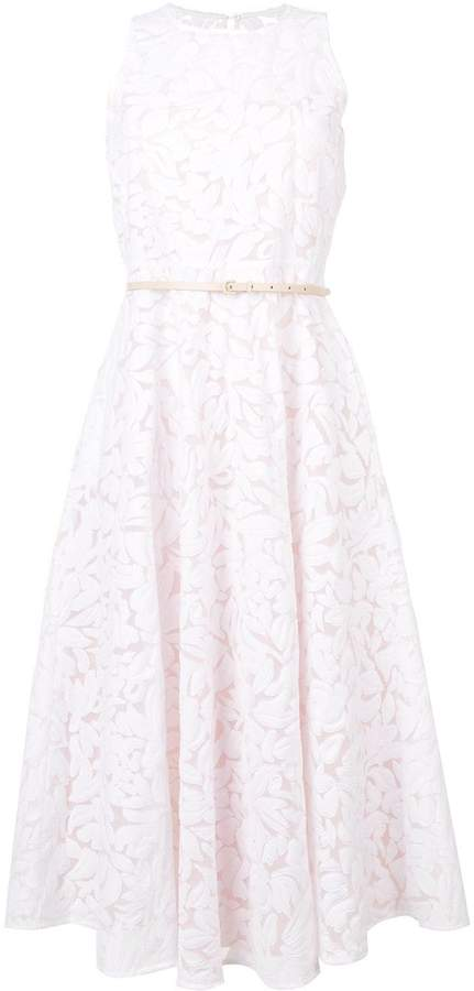 Max Mara lace flared dress
