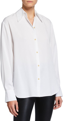 Vince Shaped Collar Button-Down Shirt