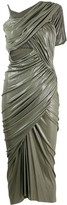 Rick Owens asymmetric ruched midi dress