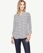 Ann Taylor Petaled Ruffle Neck Blouse