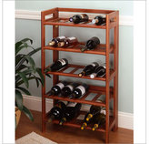 Winsome Woods Foldable Wine Rack
