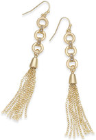 Thalia Sodi Gold-Tone Chain Link Tassel Drop Earrings, Only at Macy's