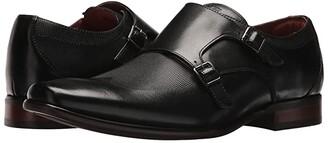 Florsheim Postino Double Monk Strap (Black Smooth/Perf) Men's Monkstrap Shoes