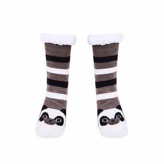 VEMOWE Fluffy Socks Slipper Socks For Women Thigh High Thermal Running Walking Compression Socks Bed Work Football Ladies Socks