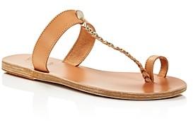 Ancient Greek Sandals Women's Melpomeni Toe-Ring T-Strap Sandals