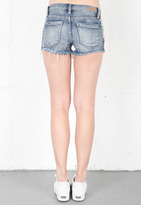 Blank NYC Blank Denim Shorts with Floral Detail in Island Hopper