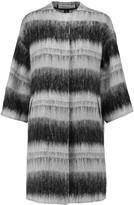 Marni Striped faux shearling coat