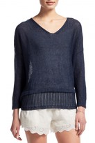 CHARLI LONDON Phyllis Linen Pullover Sweater