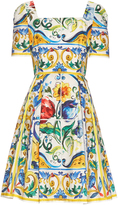 Dolce & Gabbana Majolica-print cotton mini dress