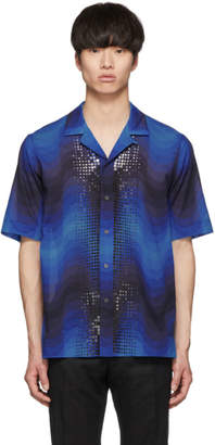 Dries Van Noten Blue Verner Panton Edition Sequin Carlton Shirt