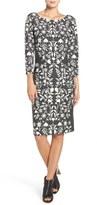Eliza J Jacquard Knit Sheath Dress (Regular & Petite)