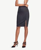 Ann Taylor Pinstripe Tropical Wool Pencil Skirt