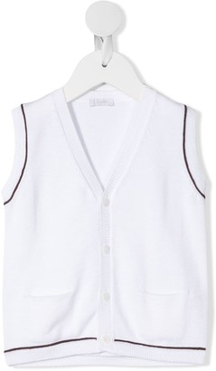Il Gufo Fine-Knit Pocket Waistcoat