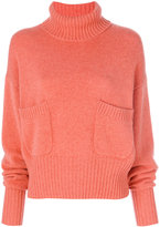 Chloé ruched sleeve sweater - women - Cashmere - M