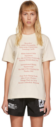 Raf Simons Off-White History Of The World T-Shirt