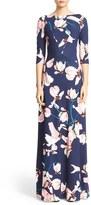 Erdem Valentina Floral Print Jersey Gown