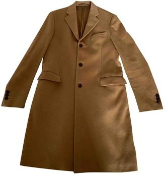 Prada Camel Wool Coats