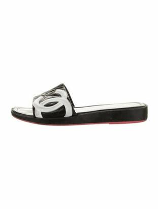 Chanel Vintage Ligne Cambon Slides Black